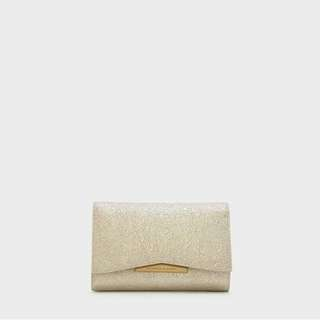 Charles & Keith Front Flap Detail Wallet Original
