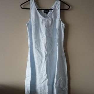 Witchery linen baby blue dress