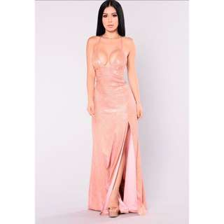 Fashion Nova showtime glitter maxi dress