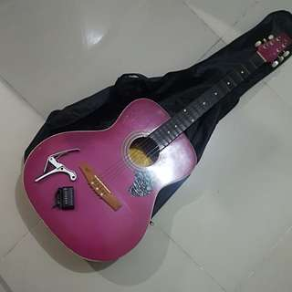 2nd Hand Pink Guitar