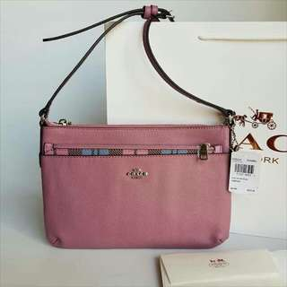 FREE SHIP Coach Bag Crossbody Sling with Popup Wallet -pink
