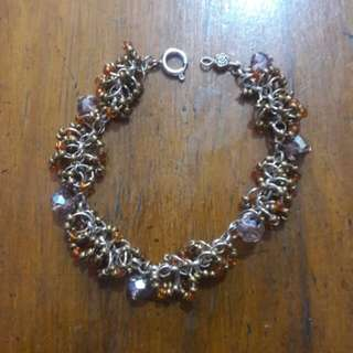 Beads and crystal bracelet