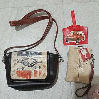 Taiwan handmade bag 3個