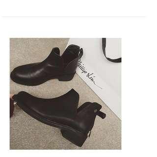 🚚 降 韓風 V口靴 靴子 裸靴