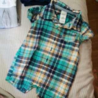 Carters plaid onesie