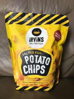 IRVINS salted egg potato chips 鹹蛋薯片大包裝 230g