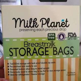 Milkstorage bags