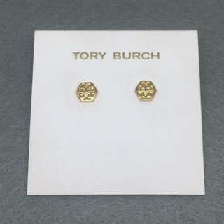 Tory Burch Sample Earrings 六角形金色耳環