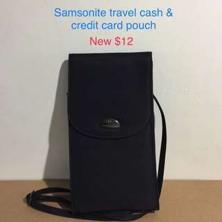 Travel pouch crossover body bag credit card passport