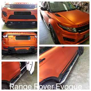 Range Rover Evoque installed with Aluminum Side Step and Larte Bodykit
