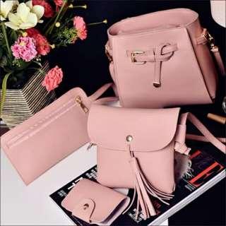 Woman Four set Women Handbag Shoulder Bag 4 pieces