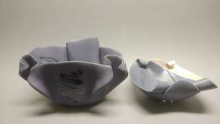 Signed Hilborn Canadian pottery - contemporary .signed. 2 pieces . Purple