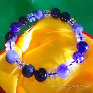 Dark / Pale Amethyst Bracelet 深/浅紫水晶手链