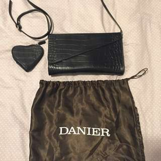 BNWOT Danier Leather Crossbody / Coin Purse FINAL PRICE DROP