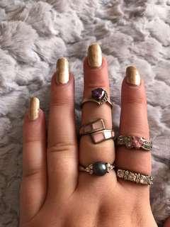 Miscellaneous cubic zirconia rings