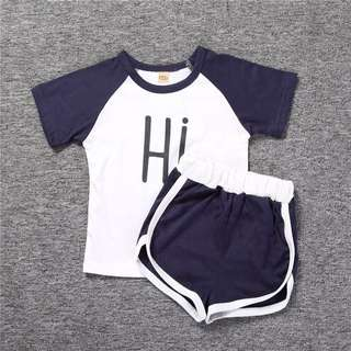 🐰Instock - 2pc hi bye set, baby infant toddler girl boy children glad cute 123456789 lalala