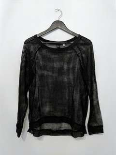 Mesh long sleeve top XS