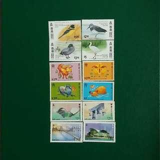 香港郵票每套$10 全要3套$20 HONG KONG STAMP NEW