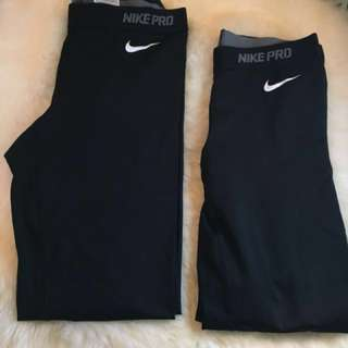 Nike Pro Leggings 30$ for both