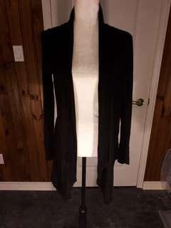 Black cardigan drapey