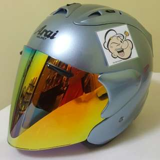 0703♡♡TSR RAM4 SAPPHIRE silver Helmet CONVERT TO ARAI 🦀 For SALE, Yamaha Jupiter, Spark, Sniper,, Honda, SUZUKI