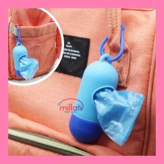 Plastik portabel untuk buang diaper