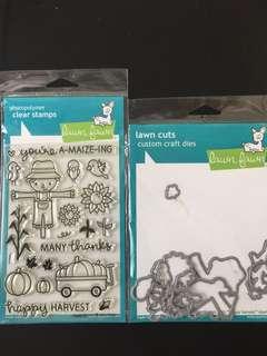 Lawn Fawn Happy Harvest stamp & die (LF971 & LF972)