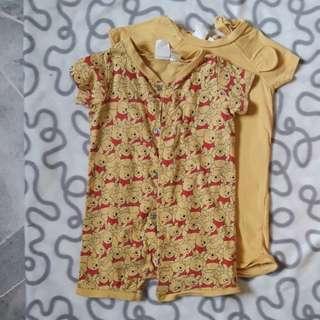 H&M pooh jumpsuit