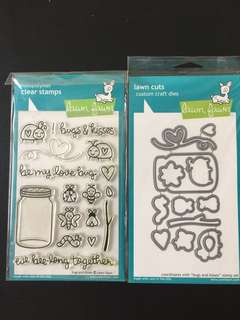 Lawn Fawn Bugs & Kisses Stamps and Dies (LF789 & LF790)