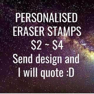 Personalised Eraser Stamps