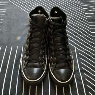 Converse Black Leather US 9.