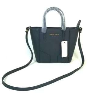 Charles and keith black sling bag / hand bag