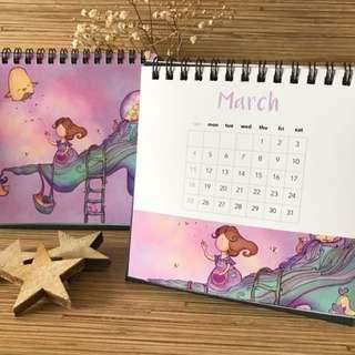 2018 Mini desk calendar