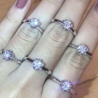 SALE 50%....Solitaire Rose Ring Size 6,7,8