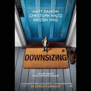 Original Movie Poster - Downsizing