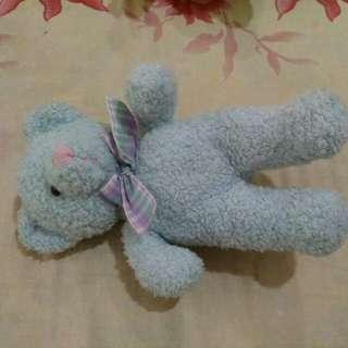 Rattle Boneka beruang biru