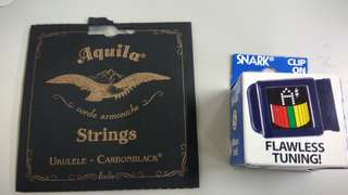 Snark tuner plus Aquila strings