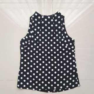 Baju / atasan motif polkadot