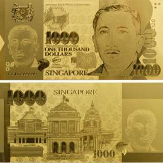 Gold $1000 singapore note