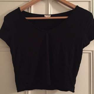 Crop garage v neck