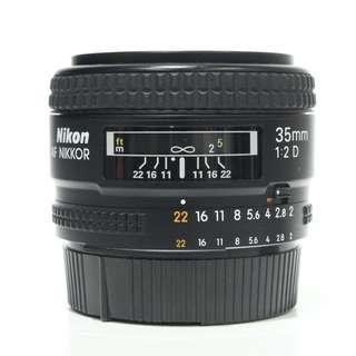 Nikon AF 35mm F2 D Lens