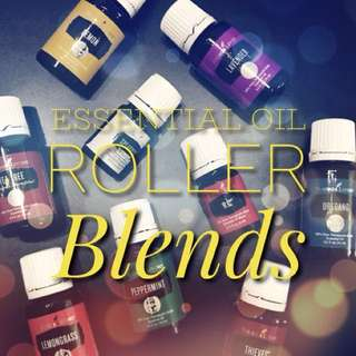 💯 Pure Organic Essential Oil Roller Blends