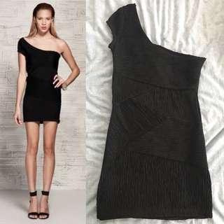 Zara Asymmetrical Black Dress