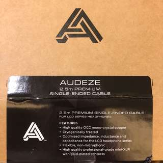 Audeze LCD4 premium braided cable single ended