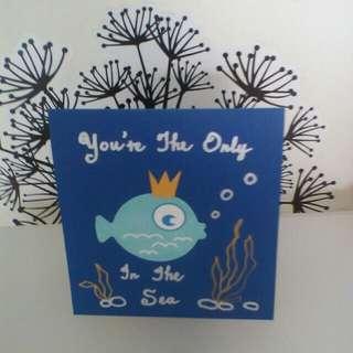 I love you Greeting card - fish