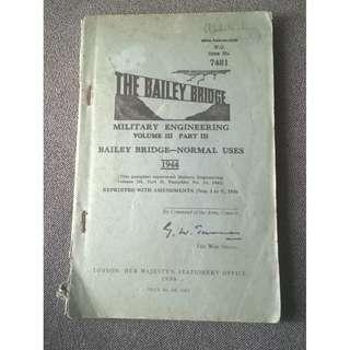 1956 Military Engineering Manual - Bailey Bridge