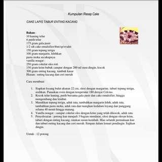 Kumpulan Resep Cake (Persembahan INDOSIAR).PDF. 30 Halaman