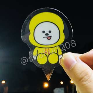 Ready stock: BT21 Chimmy Acrylic Bookmark