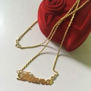 18k customized jewelry necklace