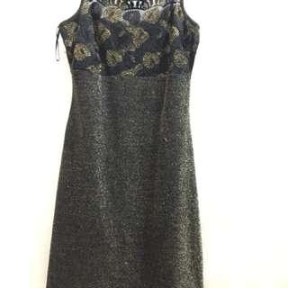 Shiny / glittery black / grey cocktail dress